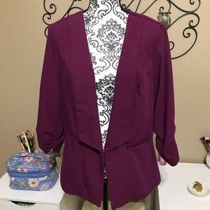 Torrid Purple Blazer Jacket 1X